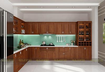 Thiết kế - Thi công nội thất tủ bếp biệt thự chú Tùng