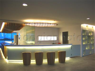 Thi công nội thất khu dịch vụ công trình phòng tập GYM Cressent Mall 3