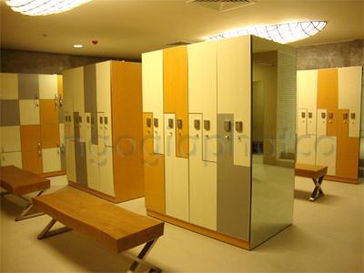 Thi công nội thất khu dịch vụ công trình phòng tập GYM Cressent Mall 5