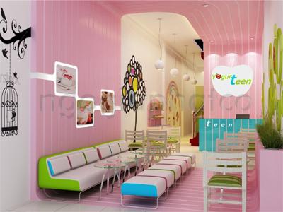 Thiết kế - Thi công nội ngoại thất hoàn thiện quán kem Yogurteen 1
