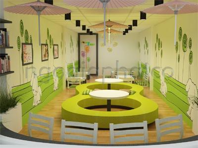 Thiết kế - Thi công nội ngoại thất hoàn thiện quán kem Yogurteen 3