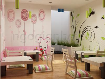 Thiết kế - Thi công nội ngoại thất hoàn thiện quán kem Yogurteen 4