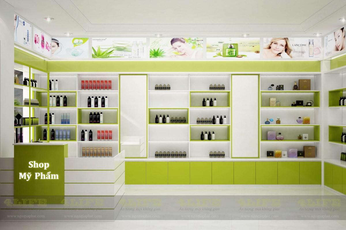 Dự án nội thất shop bán mỹ phẩm