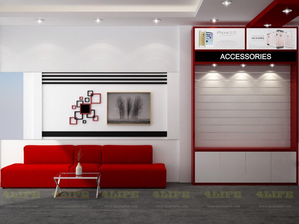 Dự án thi công nội thất shop điện thoại viettable