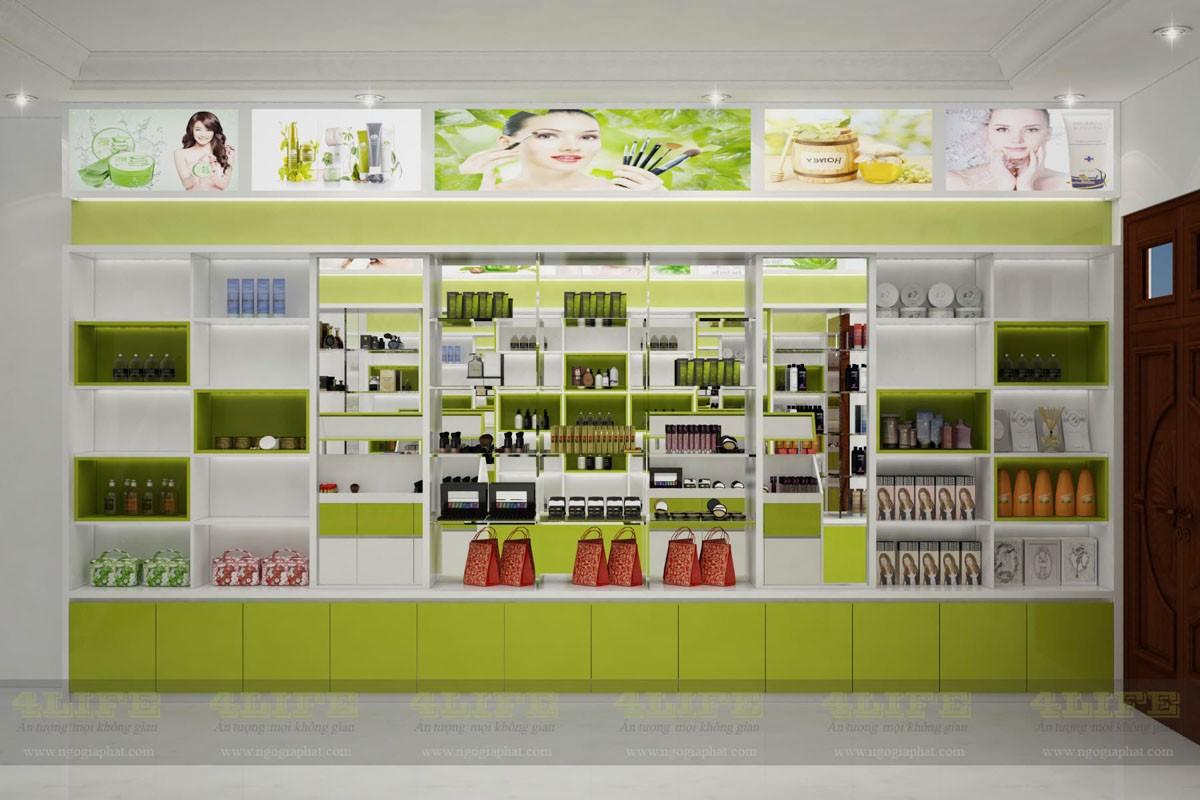 Dự án thi công shop bán mỹ phẩm