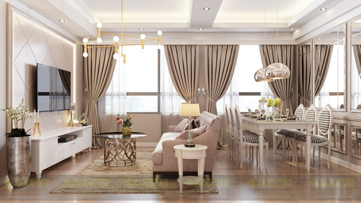 Thiết kế căn hộ chung cư cao cấp