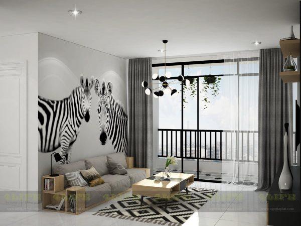 thiết kế nội thất căn hộ sunrise ngô gia phát