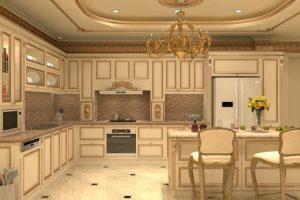 Tủ Bếp Cổ điển Gỗ Tự Nhiên