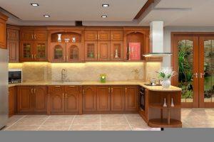 Tủ Bếp – Kệ Bếp Gỗ Căm Xe TB053