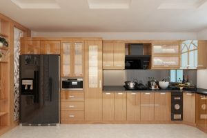 Tủ Bếp – Kệ Bếp Gỗ MDF Veneer TB054