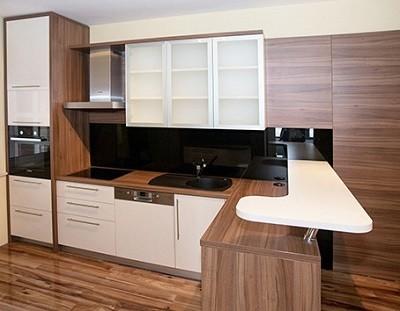 Kệ - tủ bếp gỗ Veneer và tấm phủ Laminate TB027