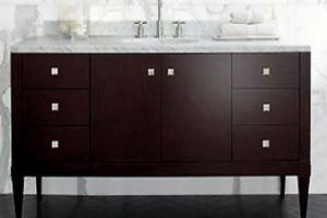 Tủ Lavabo Phòng Tắm Gỗ LV002