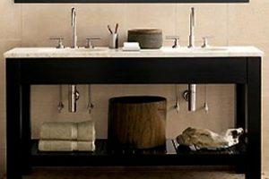 Tủ Lavabo Phòng Tắm Gỗ LV004