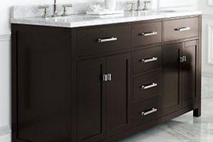 Tủ Lavabo Phòng Tắm Gỗ LV007