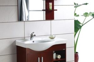 Tủ Lavabo Phòng Tắm Gỗ LV012