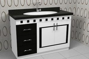 Tủ Lavabo Phòng Tắm Gỗ LV009