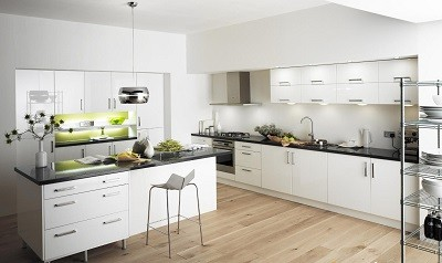 Tủ bếp MDF sơn MD04