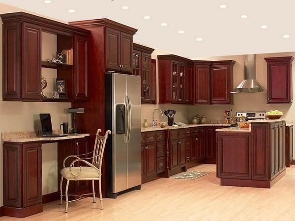 Các Mẫu Tủ Kệ Bếp Gỗ Tự Nhiên đẹp Giá Rẻ