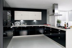 Tủ Bếp – Kệ Bếp Gỗ MDF Chống ẩm Sơn TB005