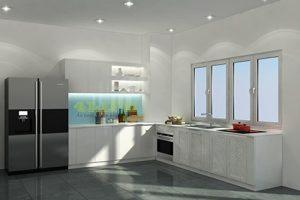 Mẫu Tủ Bếp Acrylic TB011