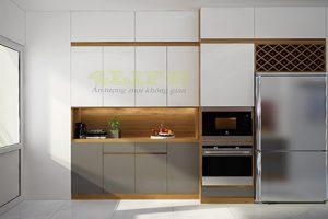 Mẫu Tủ Bếp Acrylic Xám TB013
