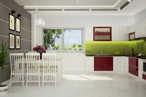 Tủ – Kệ Bếp Gỗ Acrylic TB014