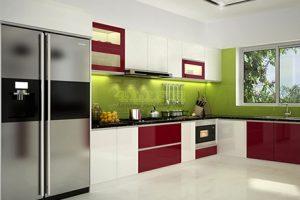 Tủ – Kệ Bếp Gỗ Acrylic TB019