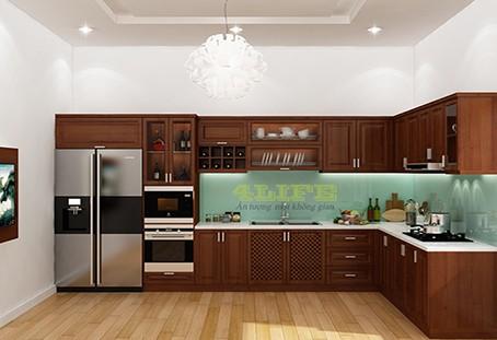 Tủ Bếp Gỗ Căm Xe TB016