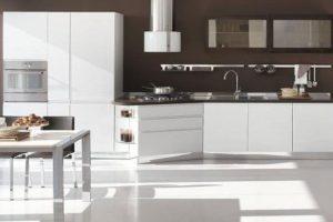 Tủ Bếp – Kệ Bếp Gỗ MDF Sơn TB007