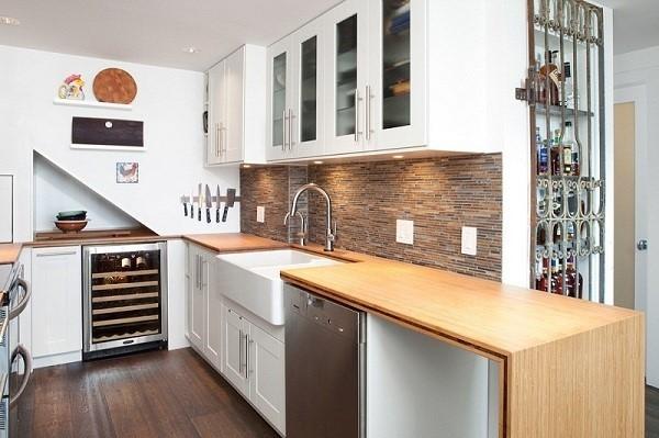 Cách chọn tủ bếp cho không gian hẹp