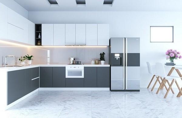 Nên chọn tủ bếp acrylic hay gỗ tự nhiên cho phòng bếp