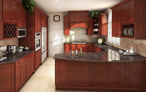 Tủ bếp gỗ gõ đỏ TB003