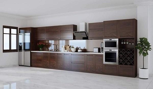 Tủ bếp từ gỗ óc chó giá thành bao nhiêu