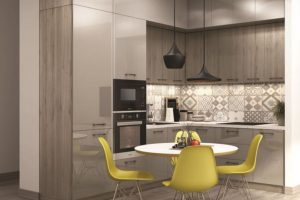 Tủ Bếp Gỗ Acrylic TB021