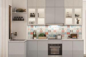 Tủ Bếp Gỗ Acrylic TB022