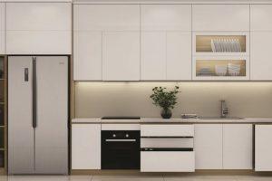 Tủ Bếp Gỗ Acrylic Thiết Kế Hiện đại TB023