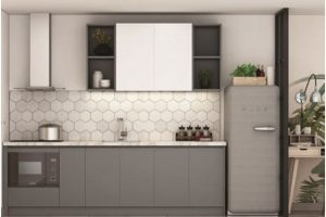 Tủ Bếp Gỗ Acrylic TB024