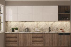 Tủ Bếp Gỗ Acrylic TB026 Phong Cách Hiện đại
