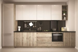 Tủ Bếp Gỗ Acrylic đẹp TB025