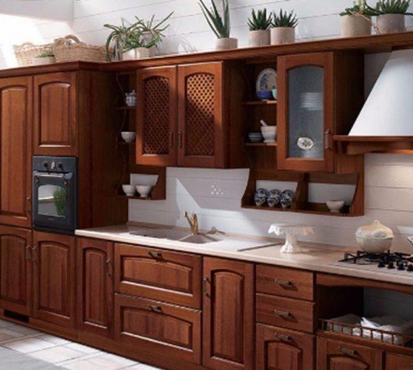 Tủ bếp gỗ căm xe TB012