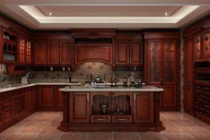 Tủ – Kệ Bếp đẹp Gỗ Căm Xe TB003