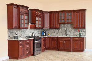 Tủ Bếp Hiện đại Gỗ Căm Xe TB005