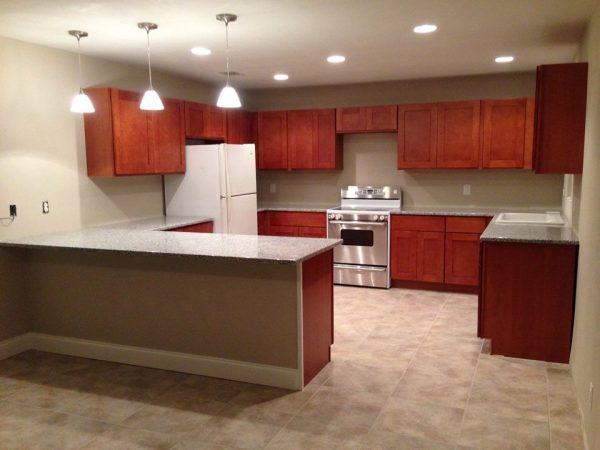Tủ bếp gỗ gõ đỏ TB021