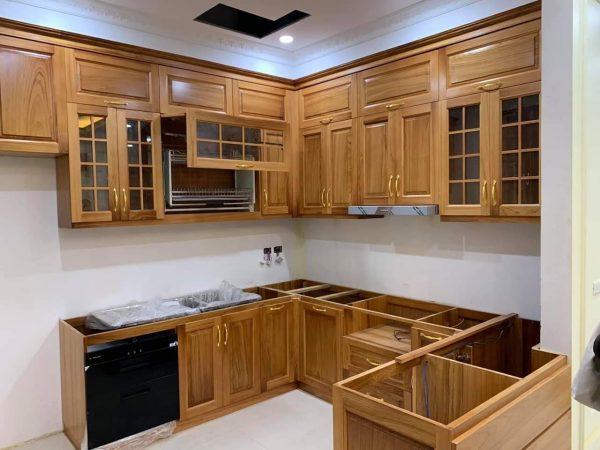 Tủ bếp gỗ gõ đỏ TB030