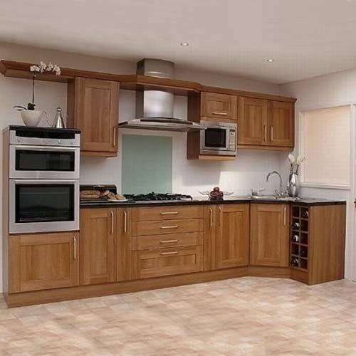 Tủ bếp gỗ sồi TB012