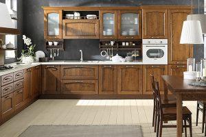 Tủ Bếp Chất Liệu Gỗ Sồi Nga TB002