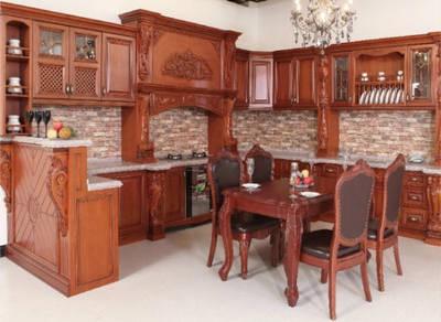 Tủ bếp gỗ sồi TB003