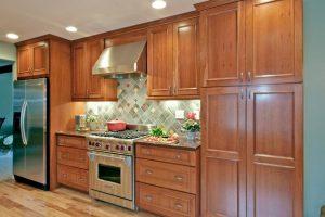 Tủ Nhà Bếp Gỗ Sồi TB005