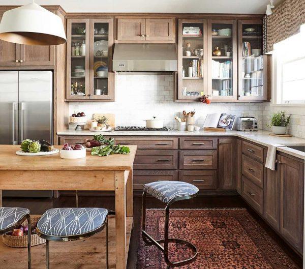 Tủ bếp gỗ sồi TB007
