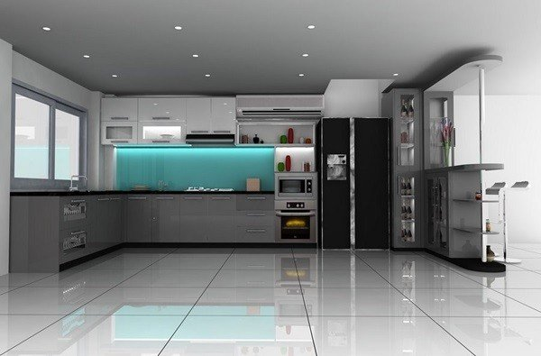 Mẫu tủ bếp acrylic TpHCM đẹp, sang trọng